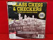 Glass Chess & Checkers Game Strategy Board Fun